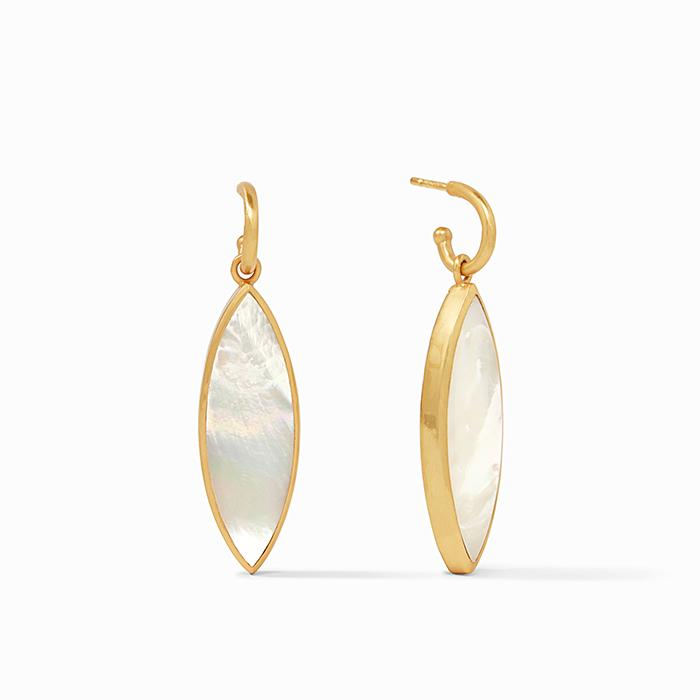 JULIE VOS VENUS STATEMENT EARRING, MOTHER OF PEARL