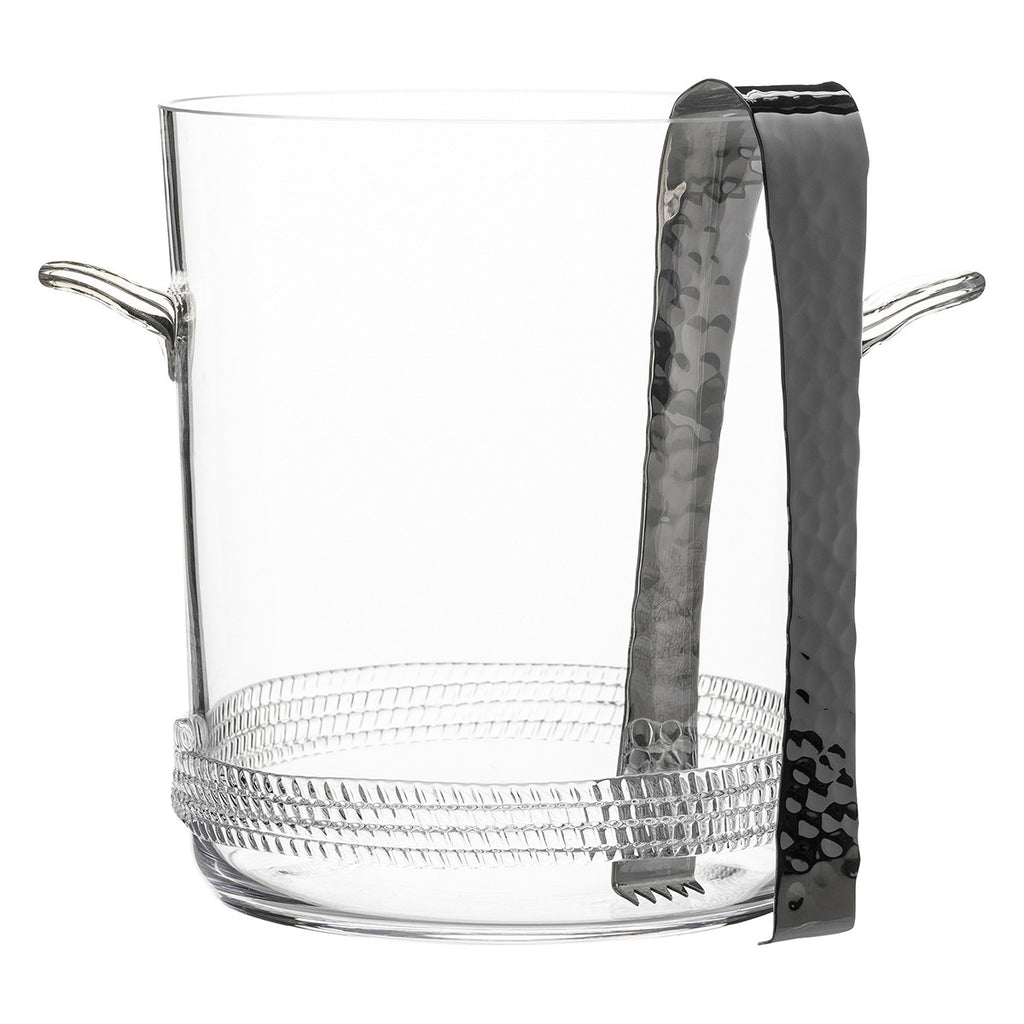 JULISKA DEAN ICE BUCKET W/TONGS