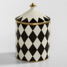 HALCYON DAYS PARTERRE BLACK/GOLD JASMINE LIDDED CANDLE