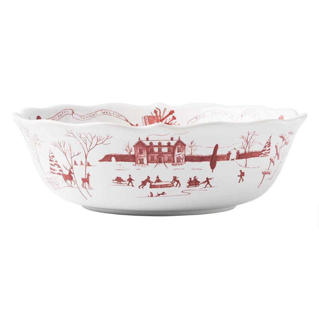 "JULISKA WINTER FROLIC RUBY 10"" SERVING BOWL"