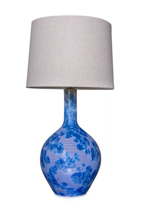 SIMON PEARCE WARREN CRYSTALLINE COBALT SMALL LAMP