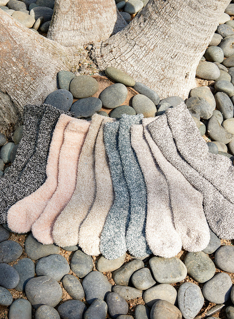 BAREFOOT DREAMS COZYCHIC HEATHERED SOCKS, ASSORTED