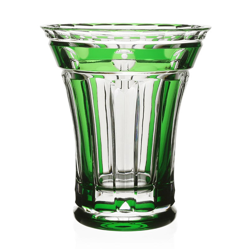 "WILLIAM YEOWARD CRYSTAL EMERALD 6"" FLOWER VASE"