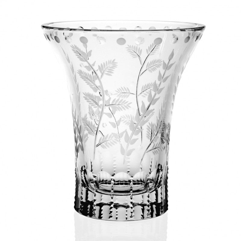 "WILLIAM YEOWARD CRYSTAL FERN 6"" TULIP VASE"