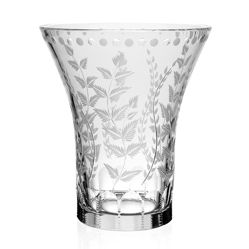 "WILLIAM YEOWARD CRYSTAL FERN 8"" VASE"