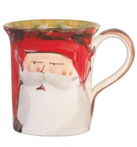 VIETRI OLD ST. NICK RED HAT MUG