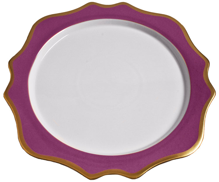 Anna Weatherley Anna's Palette Purple Orchid Charger