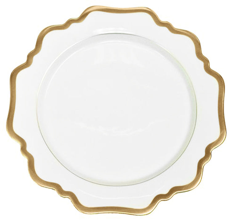 Anna Weatherley Antique White with Gold Salad Plate
