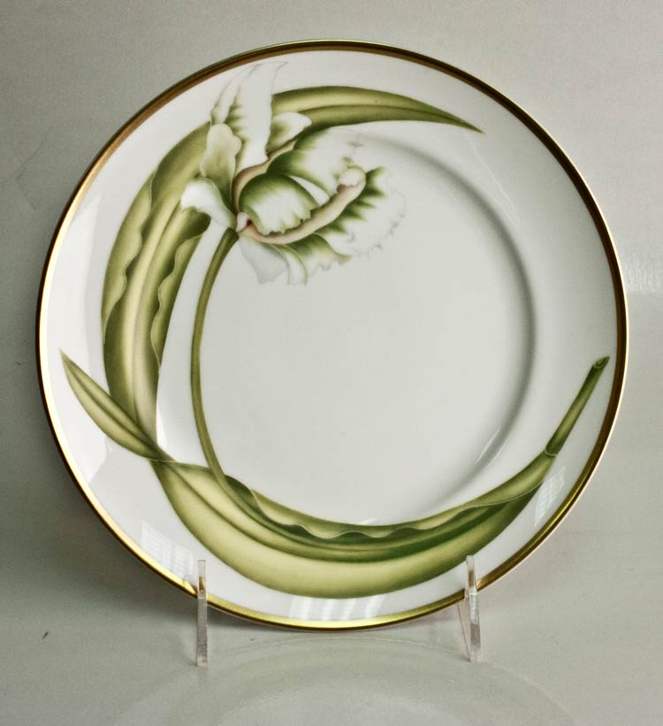 Anna Weatherley White Tulips Salad Plate