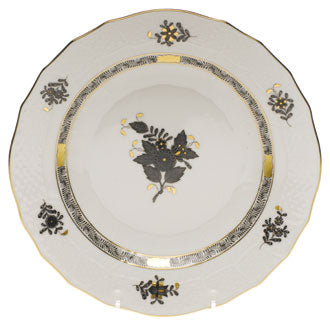 Herend Chinese Bouquet Black Salad/Dessert Plate