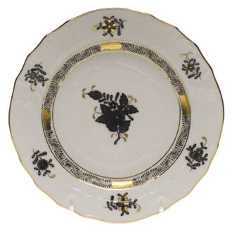 Herend Chinese Bouquet Black Salad Plate