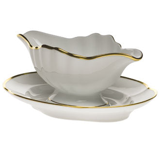 Herend Gwendolyn Gravy Boat with Fixed Stand