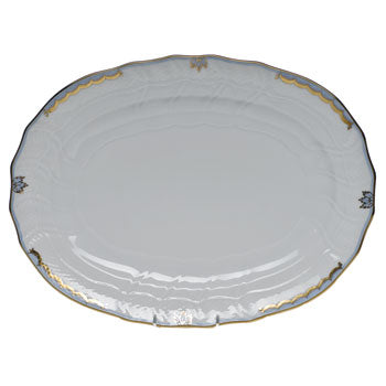 Herend Princess Victoria Light Blue Oval Platter