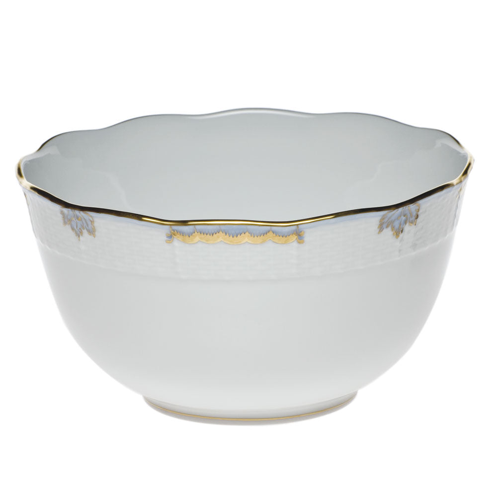 Herend Princess Victoria Light Blue Round Serving Bowl
