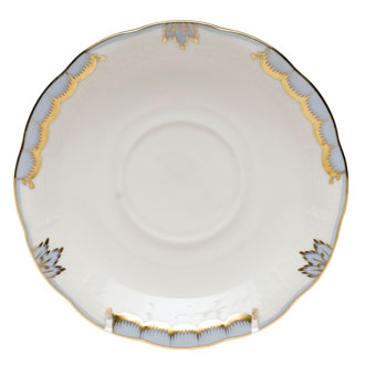 Herend Princess Victoria Light Blue Saucer
