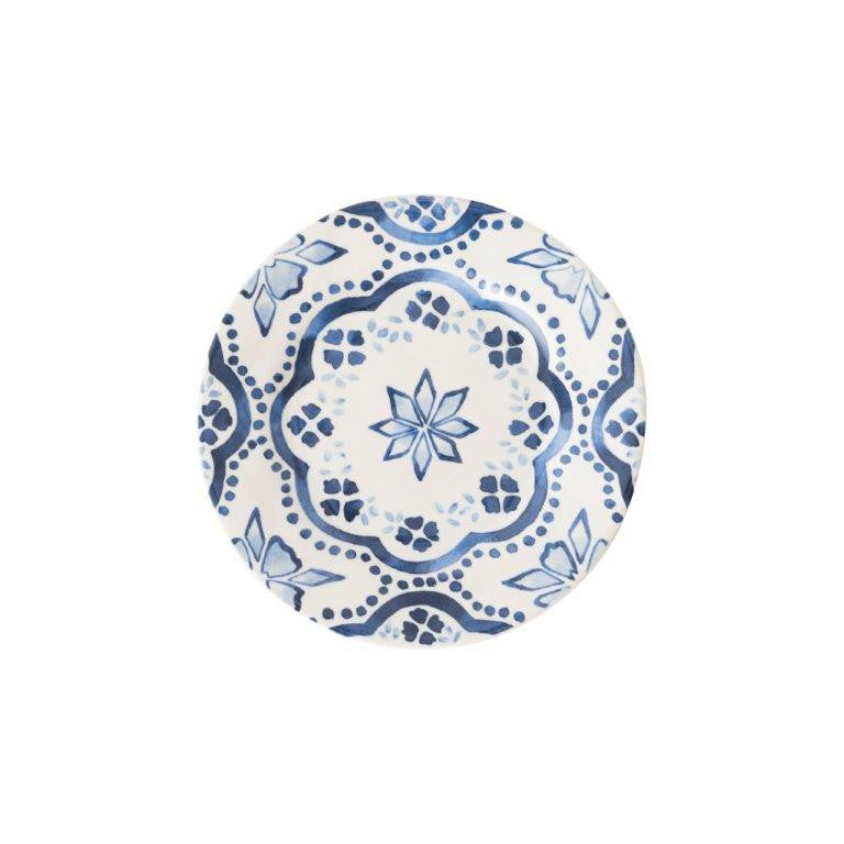 Juliska Wanderlust Iberian Journey Indigo Side/Cocktail Plate