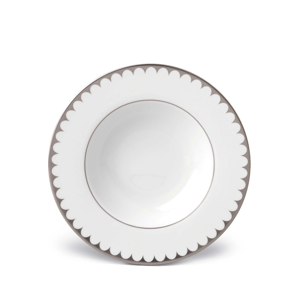 L'Object Aegean Filet Platinum Soup Plate