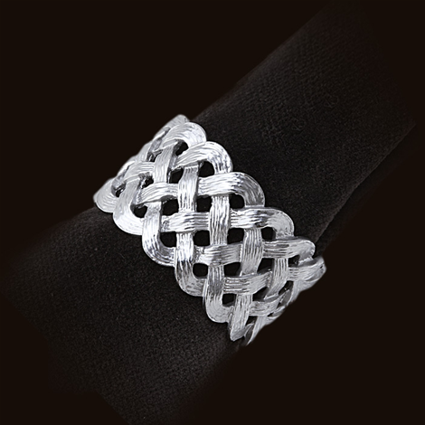 L'Objet Braid Platinum Napkin Rings, Set of 4