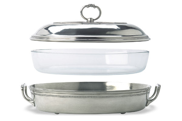 Match Pewter Covered Casserole Dish