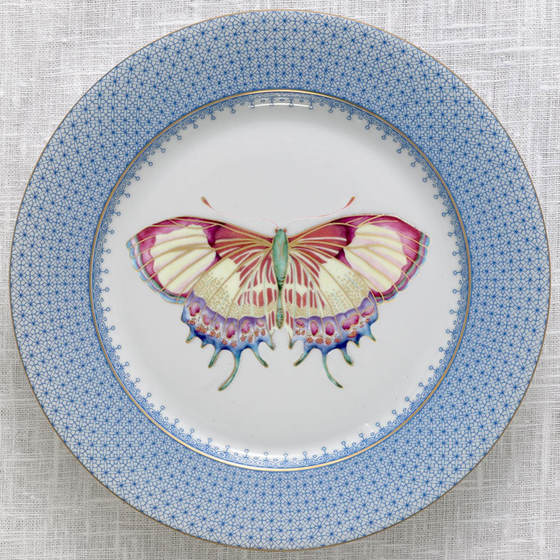 Mottahedeh Cornflower Blue Lace Butterfly Salad Plate