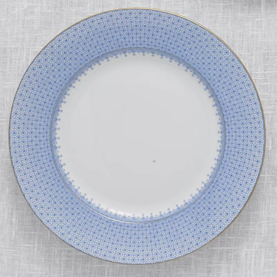 Mottahedeh Cornflower Blue Lace Dinner Plate