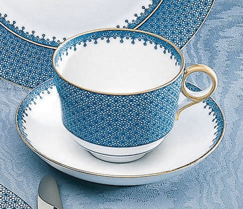Mottahedeh Lace Blue Cup & Saucer