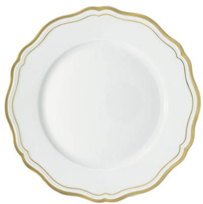 Raynaud Polka Gold Dinner Plate
