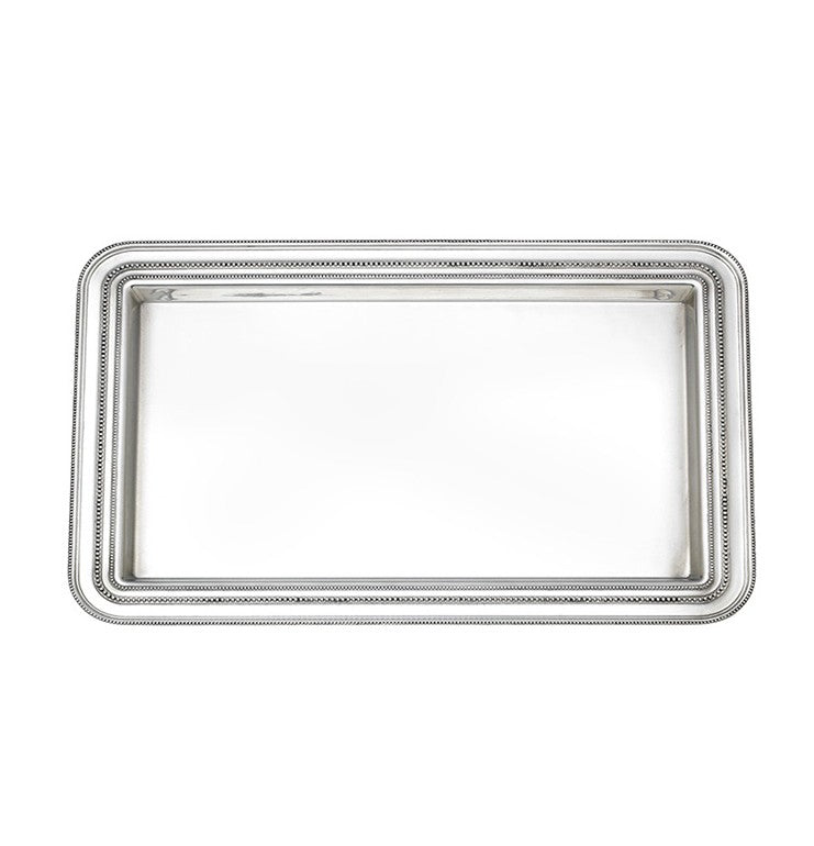 Reed & Barton Heritage Collection Banded Bead Small Tray