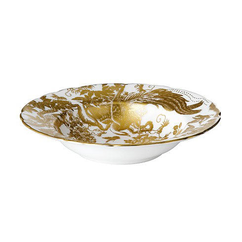 Royal Crown Derby Gold Aves Rim Soup