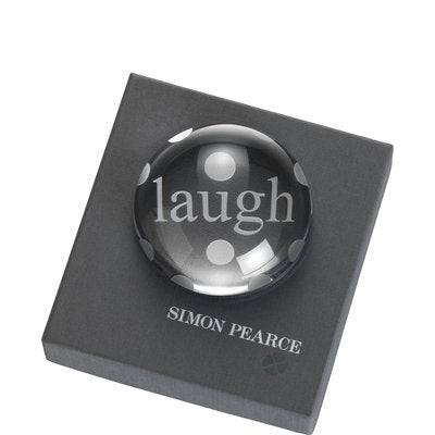 Simon Pearce Laugh Paperweight, Boxed