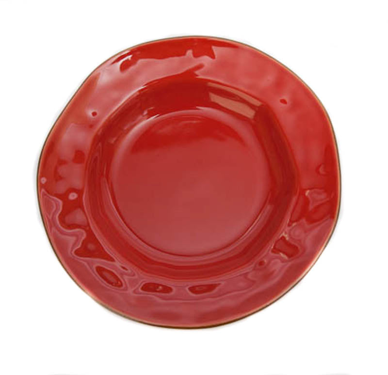 Skyros Designs Cantaria Poppy Red Rim Soup
