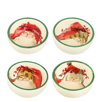 Vietri Old St. Nick Condiment Bowl, Set of 4