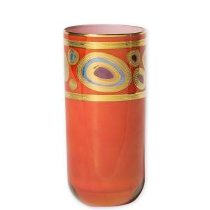 VIETRI REGALIA ORANGE HIGHBALL GLASS