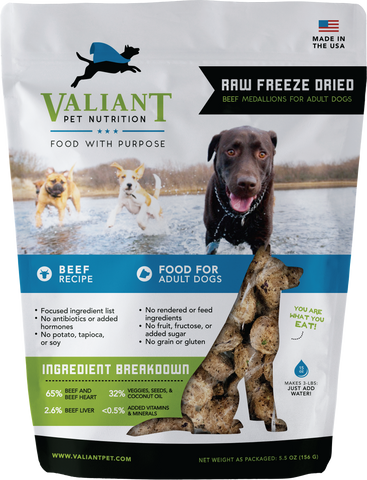 Raw Ketogenic Freeze Dried (Valiant Pet) 5.5 oz