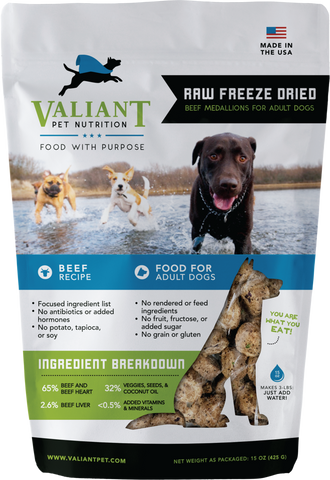 Raw Ketogenic Freeze Dried (Valiant Pet) 15 oz