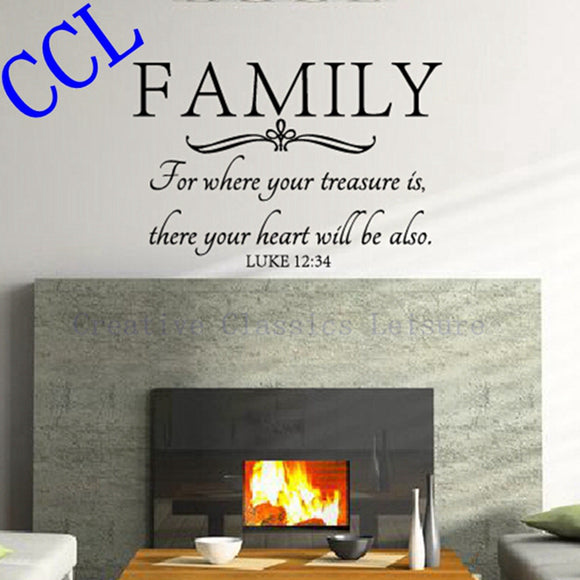 Family wall quote-Bible Wall Decal Stickers