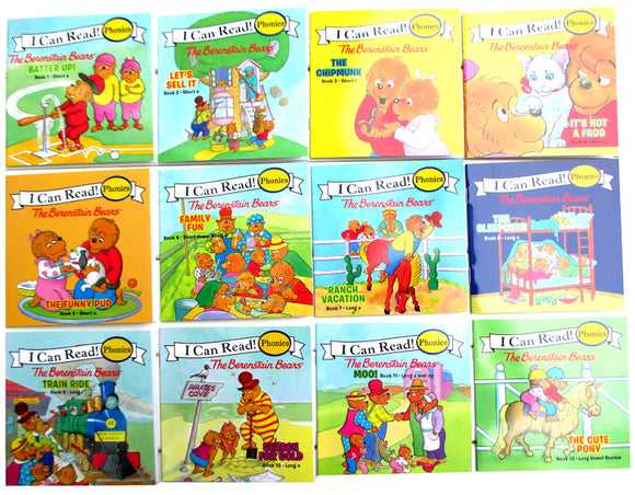12pcs/lot Original phonics books my very first berenstain bears