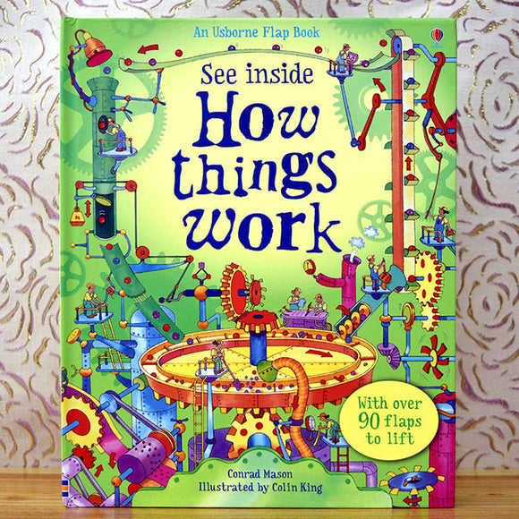3D see inside flap Book How things Work Education for Children