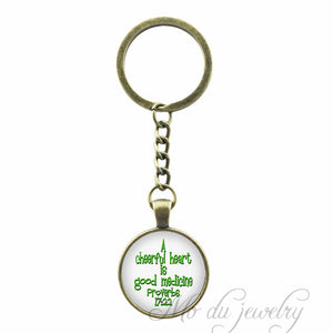 Proverbs 17:22 Keychain Bible Verse