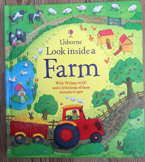 3D Look inside a Farm picture book Education for Children