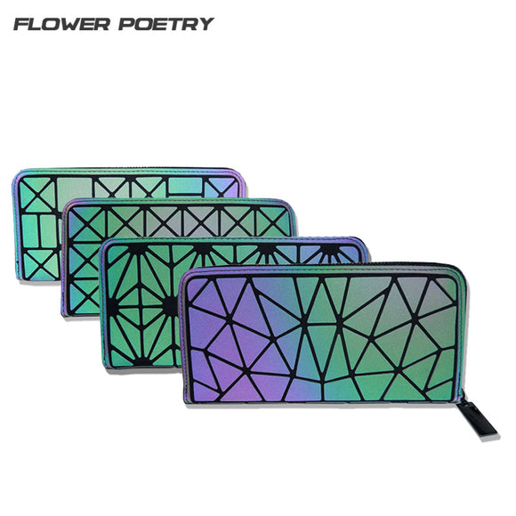Flower Poetry Women Long Wallet Clutch Bags