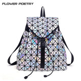 Flower Poetry Women Laser Backpacks