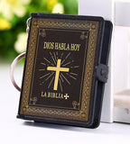 Holy Bible Sagrada Biblia keychain gold/silver/black