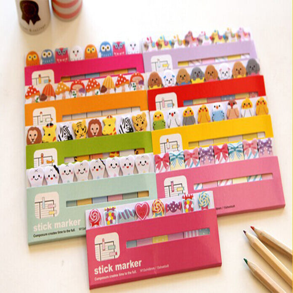 Cartoon sticky note & memo paper stickers