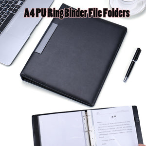 Leather ring binders padortfolio file organizer