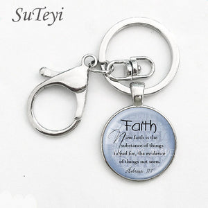 FAITH HEBREWS 11 Key Chain Bible Quote