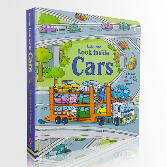 3D Look inside Cars picture book Education for Children