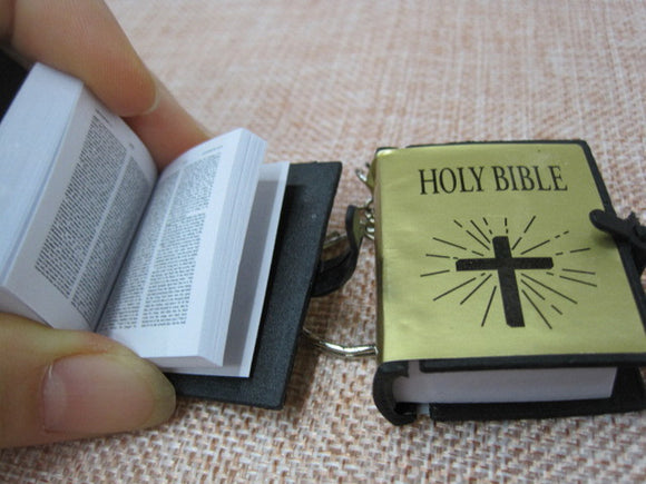 Bible Keychain paper readable Scripture