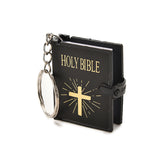 English holy bible book keychain