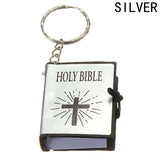 English HOLY BIBLE Gold Black Colors Keychain